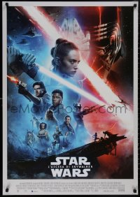 5b0449 RISE OF SKYWALKER Italian 1sh 2019 Star Wars, Ridley, Hamill, Fisher, great cast montage!