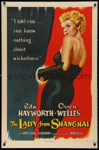5b0005 LADY FROM SHANGHAI S2 poster 2000 wonderful full-length art of sexiest Rita Hayworth!