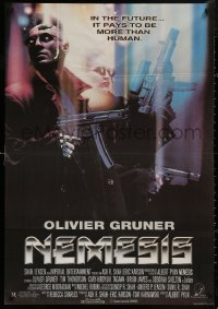 5b0432 NEMESIS Lebanese 1993 Olivier Gruner, cool sci-fi, it pays to be more than human!