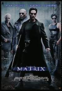 5b0059 MATRIX 27x40 video poster 1999 Keanu Reeves, Carrie-Anne Moss, Laurence Fishburne, Wachowskis