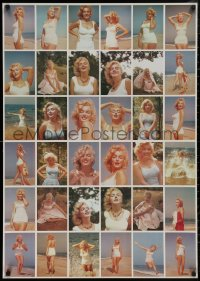 5b0018 MARILYN MONROE 2-sided uncut postcard sheet 1980s many great images of sexy starlet!