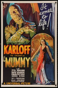 5b0001 MUMMY S2 poster 1997 $450,000 image at a fraction of the price, art of Boris Karloff!