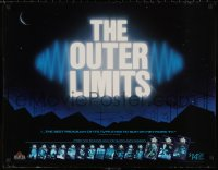 5b0061 OUTER LIMITS 24x30 video poster R1988 an illustrated review of the science fiction show!