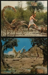 5b0024 CLASH OF THE TITANS group of 6 color 17.75x23 stills 1981 w/Harryhausen special effects!