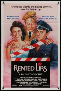 5b0062 RENTED LIPS 27x41 video poster 1988 Robert Downey Sr. AND Jr., Martin Mull, wacky and sexy!