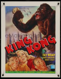 5b0072 KING KONG 16x20 REPRO poster 1990s Fay Wray, Robert Armstrong & the giant ape!