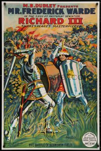 5b0009 RICHARD III S2 poster 2000 incredible & striking art of the King fighting a knight!