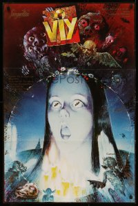 5b0682 VIY OR SPIRIT OF EVIL export Russian 26x39 R1980s wild, completely different horror art!