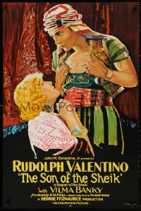 5b0008 SON OF THE SHEIK S2 poster 2000 incredible art of Rudolph Valentino & Vilma Banky!