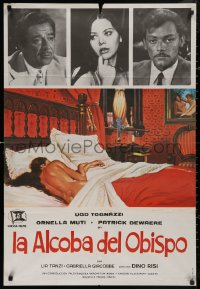 5b0697 BISHOP'S BEDROOM Spanish 1978 completely different art of sexiest Ornella Muti in bed, rare!