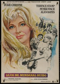 5b0715 FAR FROM THE MADDING CROWD Spanish 1968 Julie Christie, Terence Stamp, Peter Finch, Schlesinger!