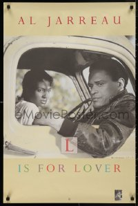 5b0047 AL JARREAU 23x35 music poster 1992 1986 L is for Lover, image with sexy woman in car!