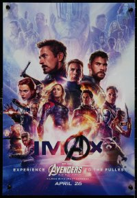 5b0064 AVENGERS: ENDGAME IMAX mini poster 2019 Marvel Comics, cool montage with Hemsworth & top cast!