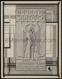 5b0049 BOBBY WHITLOCK 17x22 music poster 1970s appearing at Finnegans Wake, cool art!