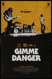 5b0065 GIMME DANGER mini poster 2016 Iggy Pop, Asheton, Asheton, Williamson, b/w image!
