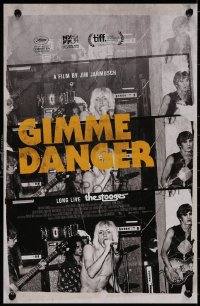 5b0067 GIMME DANGER mini poster 2016 Iggy Pop, Asheton, Asheton, Williamson, cool color title!