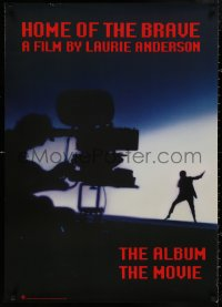 5b0051 HOME OF THE BRAVE 26x37 music poster 1986 Laurie Anderson in concert, cool silhouette image!