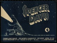 5b0054 SPENCER DAVIS 16x21 music poster 1970s appearing at Finnegans Wake, cool railroad train art!