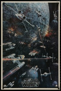 5b0055 STAR WARS 22x33 music poster 1977 George Lucas classic, John Berkey artwork, soundtrack!