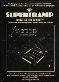 5b0056 SUPERTRAMP 17x23 German music poster 1977 Crime of the Century, cool sci-fi art!