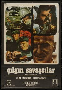 5b0401 KELLY'S HEROES Turkish 1972 Clint Eastwood, Telly Savalas, Rickles, Sutherland, different!
