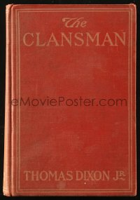 5c0238 BIRTH OF A NATION hardcover book 1915 Thomas Dixon's The Clansman w/D.W. Griffith movie scenes