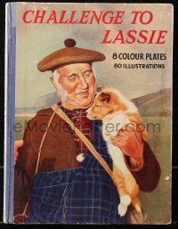 5c0240 CHALLENGE TO LASSIE English hardcover book 1949 with 8 color plates & 80 illustrations!
