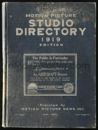 5c0062 MOTION PICTURE STUDIO DIRECTORY hardcover book 1919 info on stars, directors & other crew!