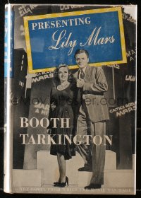 5c0202 PRESENTING LILY MARS hardcover book 1943 Booth Tarkington novel w/Judy Garland movie scenes!