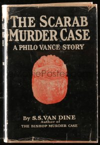 5c0211 SCARAB MURDER CASE hardcover book 1930 S.S. Van Dine Philo Vance mystery that became a movie!