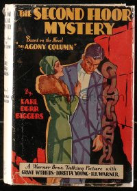 5c0212 SECOND FLOOR MYSTERY hardcover book 1930 Earl Derr Biggers' mystery w/scenes from the movie!