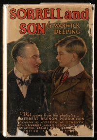 5c0217 SORRELL & SON hardcover book 1927 Warwick Deeping's novel with scenes from the movie!