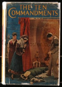 5c0224 TEN COMMANDMENTS hardcover book 1923 MacMahon's novel w/ scenes from Cecil B. DeMille movie!