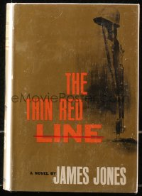 5c0227 THIN RED LINE first edition hardcover book 1962 James Jones' novel that later became a movie!