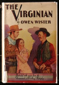 5c0233 VIRGINIAN hardcover book 1929 Owen Wister's novel with scenes from the Gary Cooper movie!