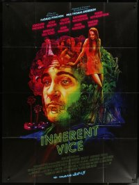 5c1242 INHERENT VICE advance French 1p 2015 cool Chorney montage art of Joaquin Phoenix & top stars!
