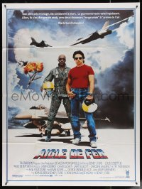 5c1247 IRON EAGLE French 1p 1986 Louis Gossett Jr, Jason Gedrick was born to fly F-16s!