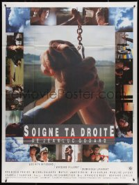 5c1253 KEEP YOUR RIGHT UP French 1p 1987 Jean-Luc Godard, photo montage by Michel Berberian!