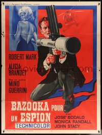 5c1260 KILLER 77, ALIVE OR DEAD French 1p 1967 cool art of sexy female spy & guy with bazooka!