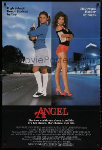 5d0048 ANGEL 1sh 1983 high school honor student by day, Hollywood hooker at night!