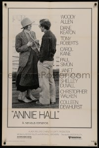 5d0053 ANNIE HALL 1sh 1977 full-length Woody Allen & Diane Keaton in a nervous romance!