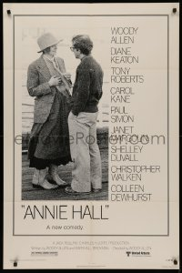 5d0054 ANNIE HALL revised 1sh 1977 full-length Woody Allen & Diane Keaton, a new comedy!