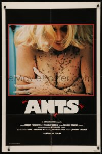 5d0055 ANTS 1sh 1978 close-up of then-unknown topless Suzanne Somers covered by deadly ants!
