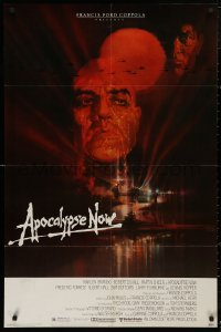 5d0057 APOCALYPSE NOW 1sh 1979 Francis Ford Coppola, classic Bob Peak art of Brando and Sheen!
