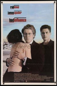 5d0074 BAD INFLUENCE 1sh 1990 Curtis Hanson, Palmer Lee Todd, Rob Lowe, James Spader!
