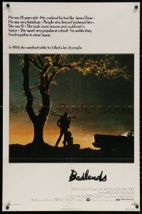 5d0075 BADLANDS 1sh 1974 Terence Malick's cult classic, Martin Sheen & Sissy Spacek!