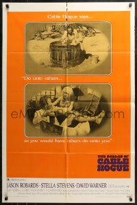 5d0078 BALLAD OF CABLE HOGUE 1sh 1970 Sam Peckinpah, Robards & sexy Stella Stevens in wash tub!
