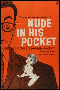 5d0829 NUDE IN HIS POCKET English 1sh 1960 Pierre Kast directed, Jean Marais, Genevieve Page, sexy!
