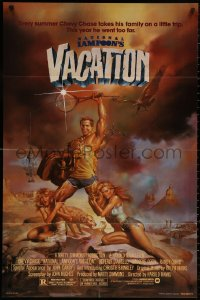 5d0803 NATIONAL LAMPOON'S VACATION NSS style 1sh 1983 Chevy Chase and cast by Boris Vallejo!
