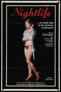 5d0824 NIGHTLIFE 25x38 1sh 1982 Bridgette Monet takes an erotic look at the business of pleasure!